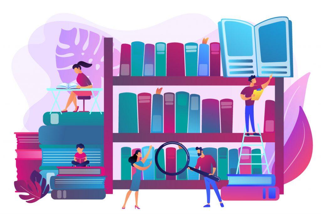 Grafik Schulungskonzept Bibliothek