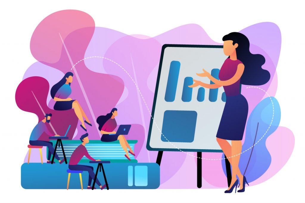 Grafik Schulungskonzept Klassenraum