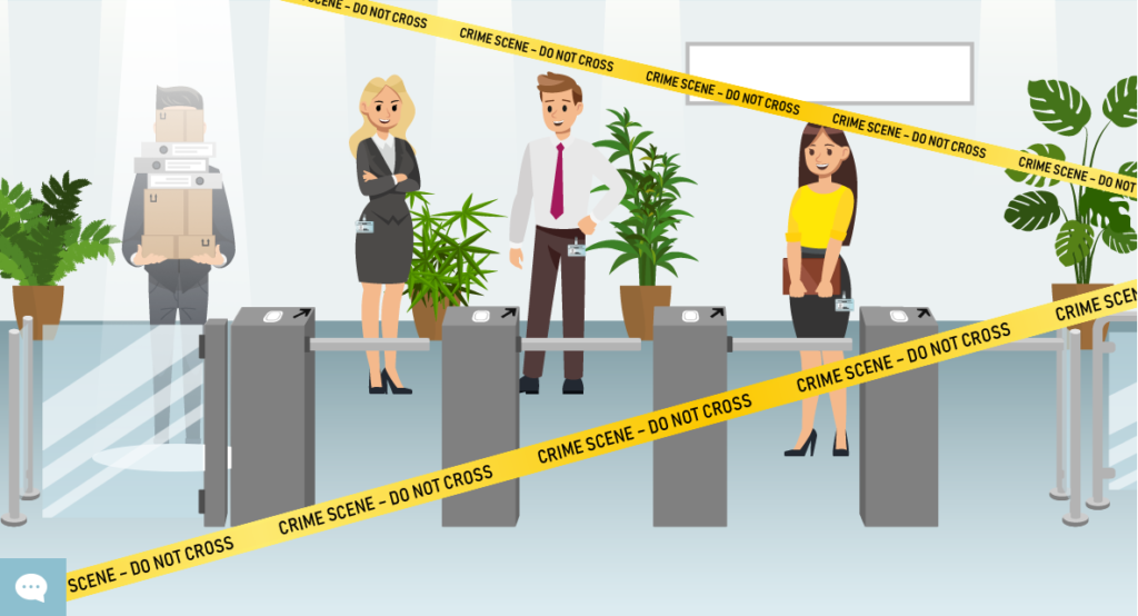 Visualisierung eines Firmeneingangs